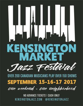 Kensington Market Jazz Festival Poster 2017