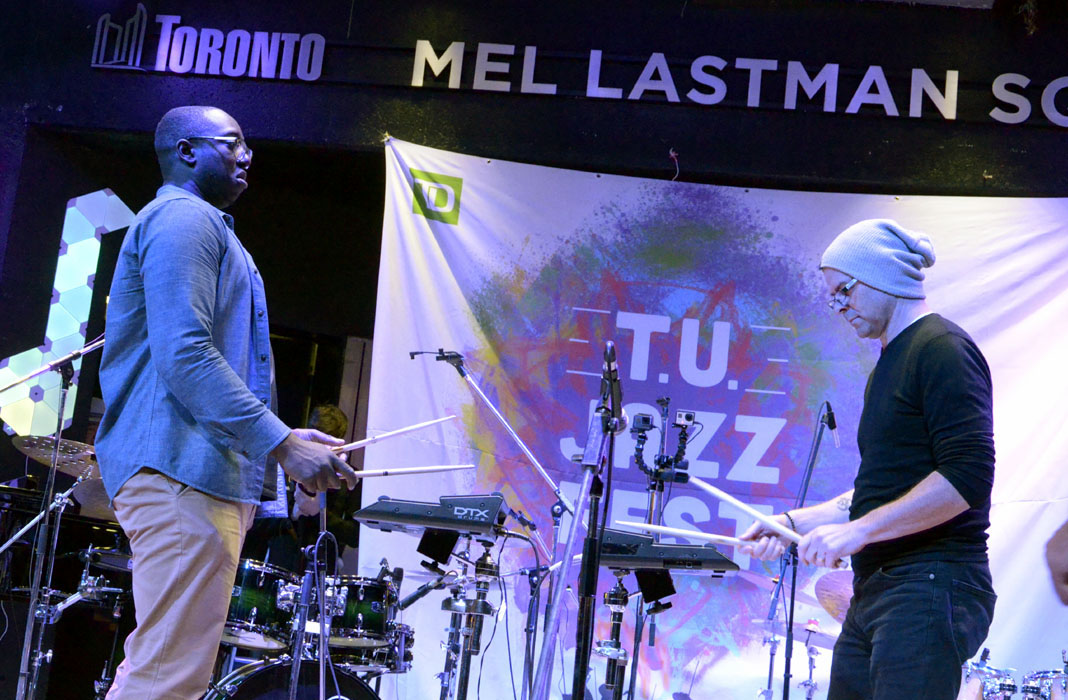 Larnell Lewis and Mark Kelso at The Toronto Undergraduate Jazz Festival 2017