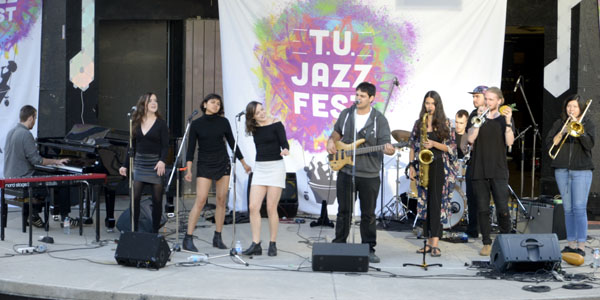 The Funny Funk Band performing at the T.U. Jazz Festival 2017