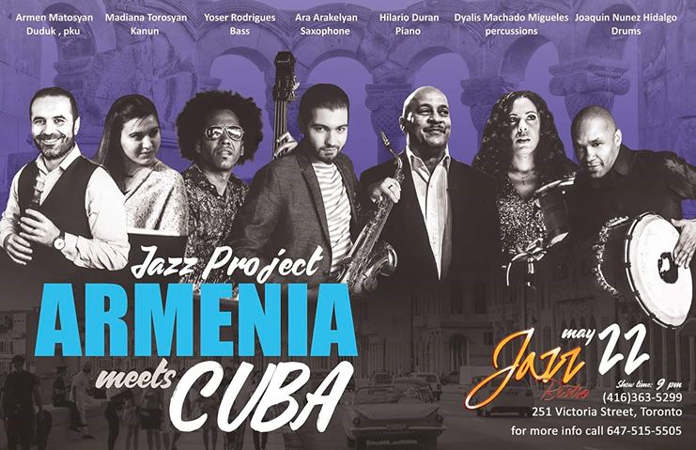 Toronto's Jazz Bistro Presents Armenia Meets Cuba Jazz Project