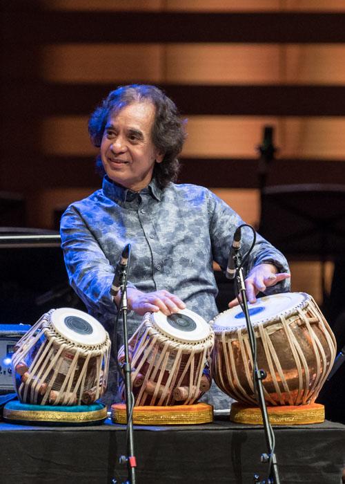 Zakir Hussain. Photo credit: The Royal Conservatory/Koerner Hall; Lisa Salulensky