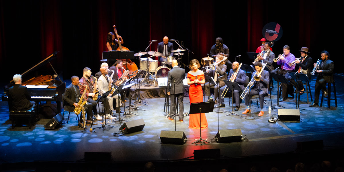New Orleans Jazz Orchestra full band. Photo credit Danilo Navas